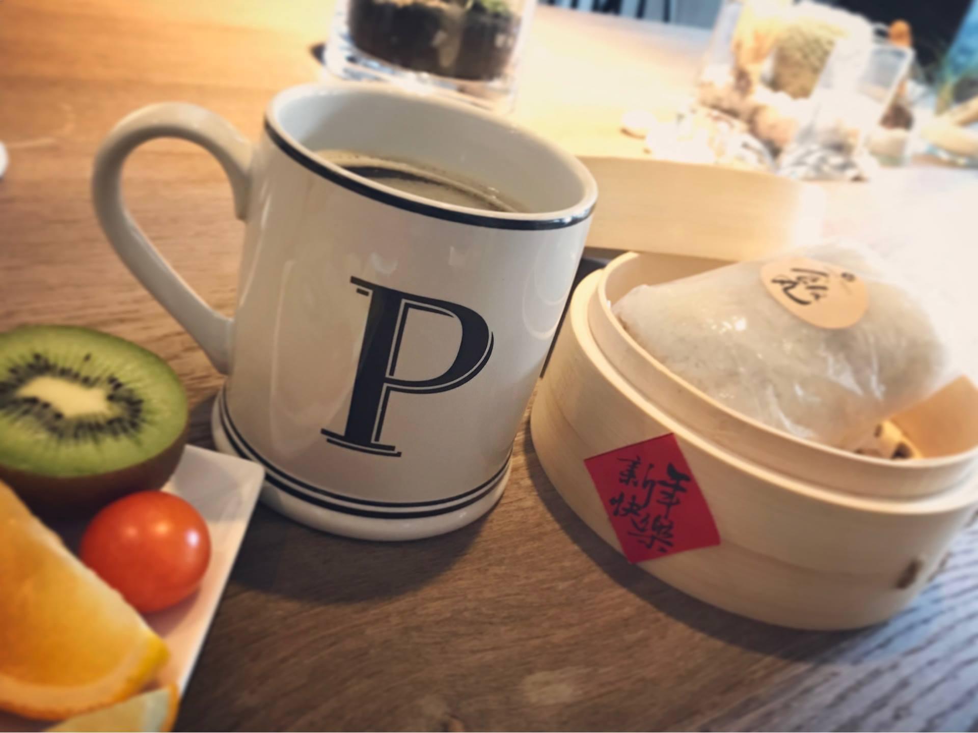 帕鉑舍旅早餐古早味飯糰、紅茶豆漿
