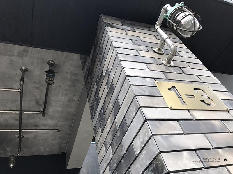 帕鉑舍旅三和瓦窯所製磚牆照片