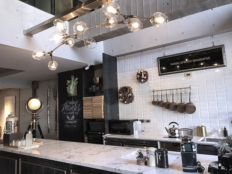 帕鉑舍旅開放式廚房照片