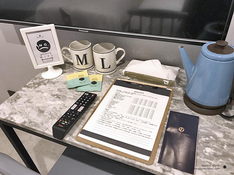 帕鉑舍旅房內事務桌照片