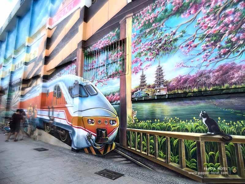 駁二車站壁畫